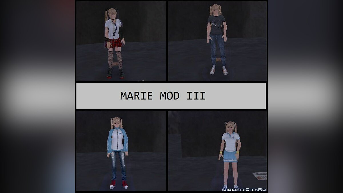 Skin packs Maria Rosa from Dead or Alive 5 for GTA 3