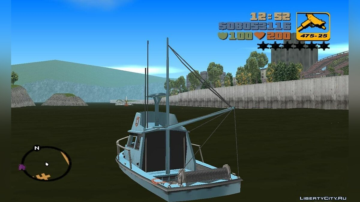 Boats and motorboats Reefer from GTA SA for GTA 3