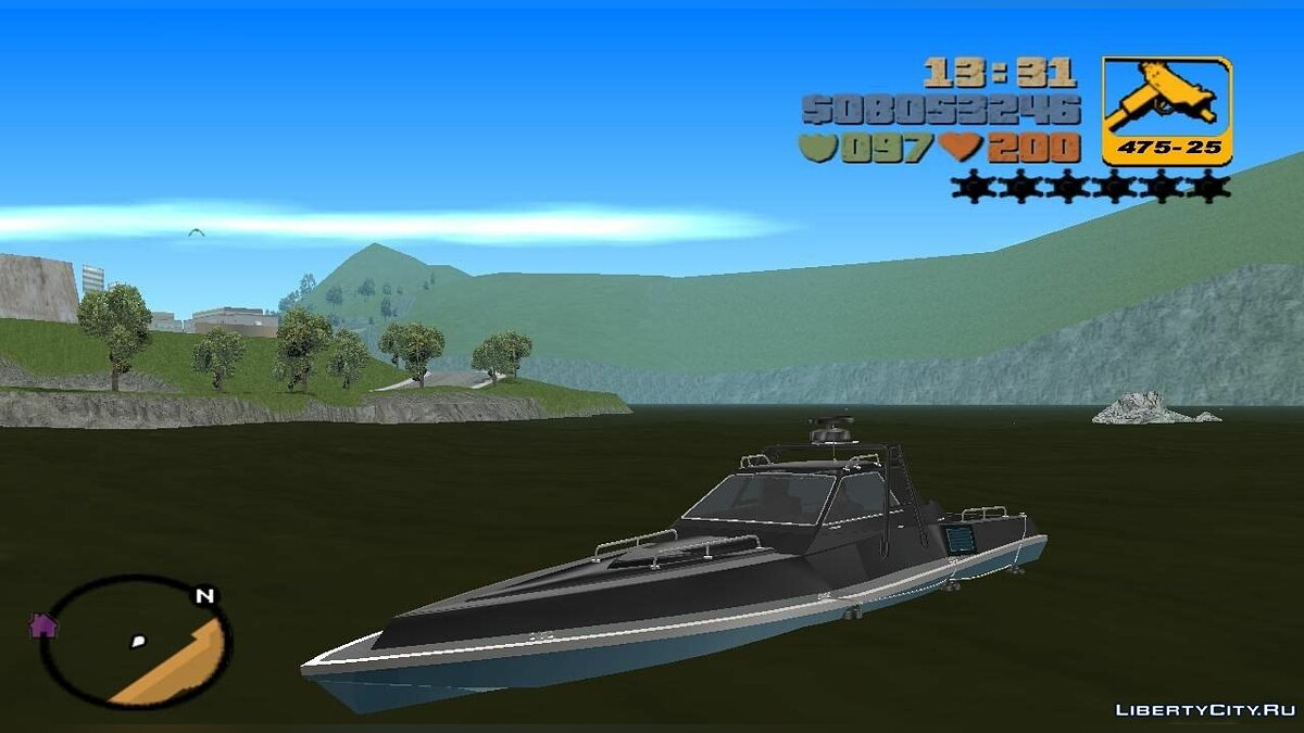 Boats and motorboats HD Ghost for GTA 3