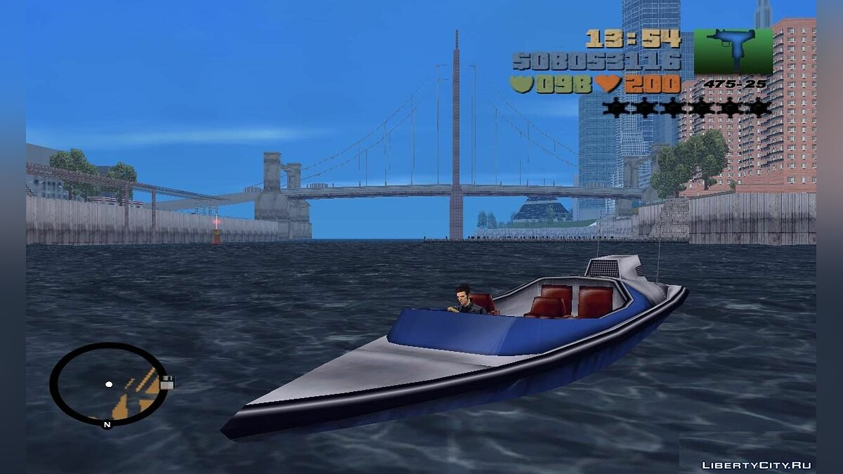 Boats and motorboats GTA VC Speeder for GTA 3