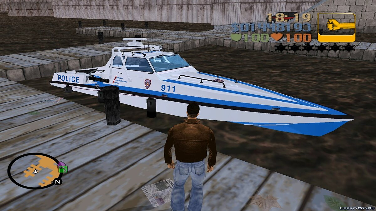 Boats and motorboats Predator (GTA4) for GTA 3