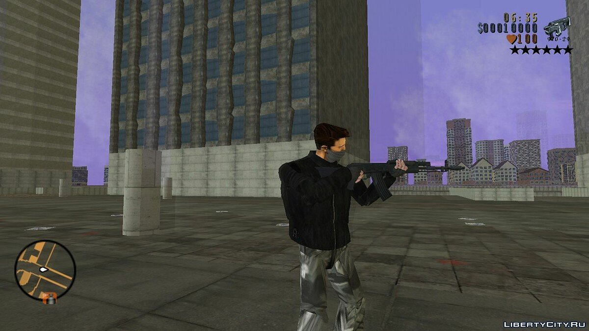 Weapon mod Saints Row 1 and Saints Row 2 Beta Weapons Pack for GTA 3