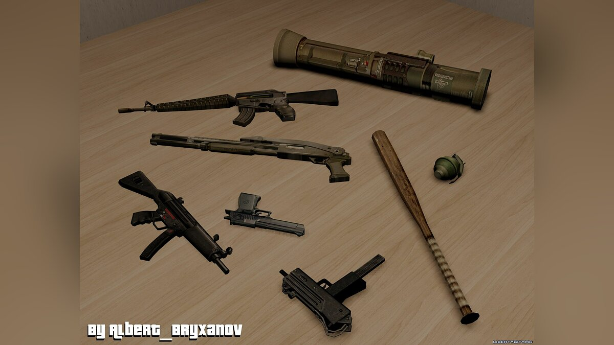 Weapon mod Pack of weapons from Postal 2 Complete for GTA 3