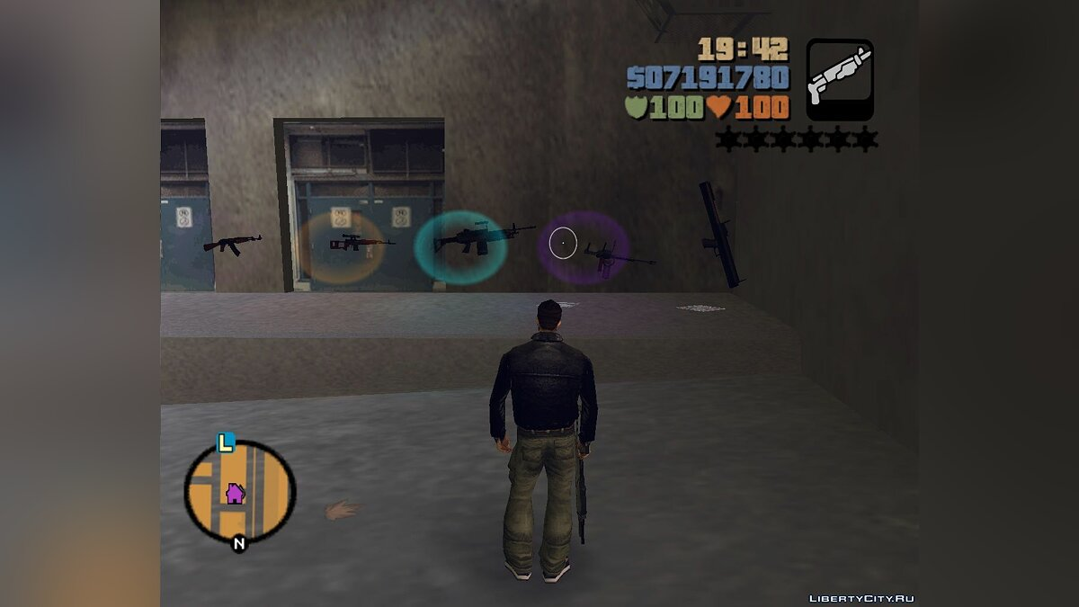 Weapon mod Pack of weapons from Vice City Stories for GTA 3