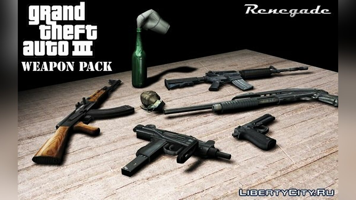 Renegade Weapon Pack for GTA 3