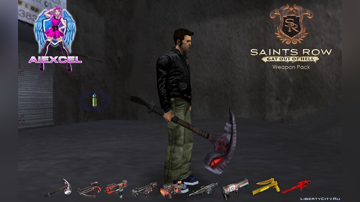 Weapon mod Saints Row: Gat out of Hell Weapons Pack for GTA 3