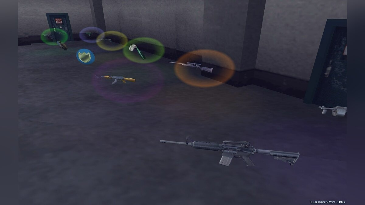 Weapon mod Weapons and sounds from Max Payne 2 for GTA 3
