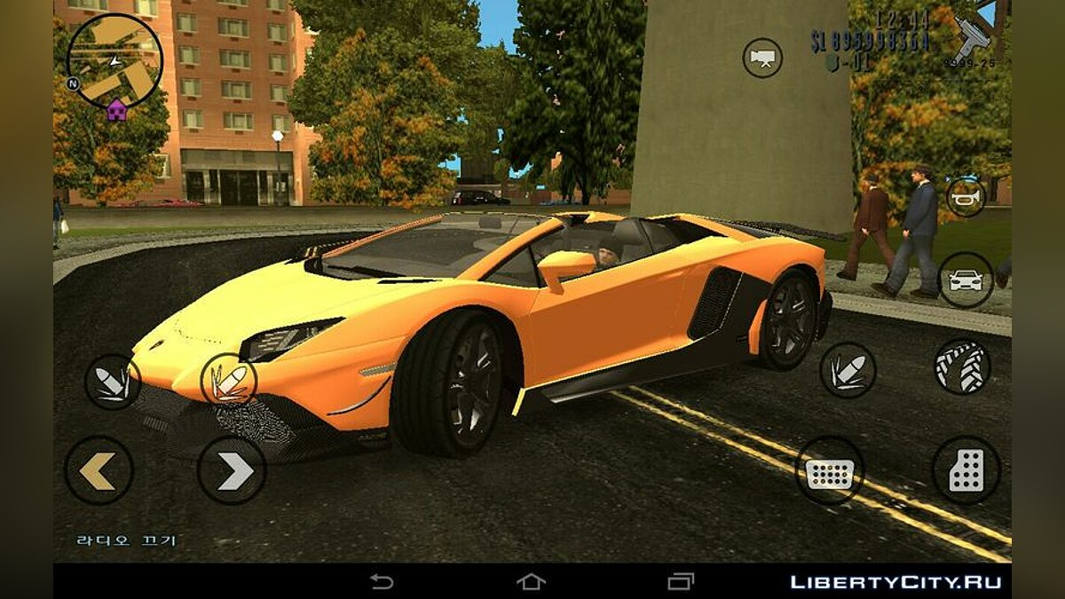 Car Lamborghini Aventador 50th Roadster for GTA 3 (iOS, Android)