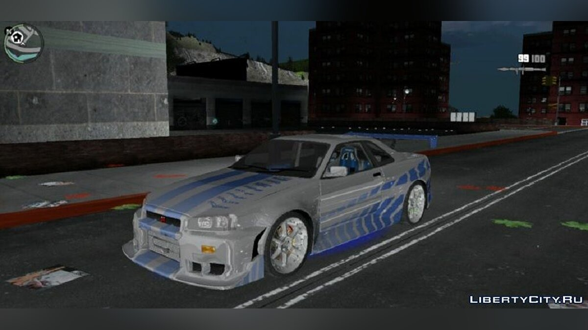 Car Brian's Skyline for Mobile for GTA 3 (iOS, Android)