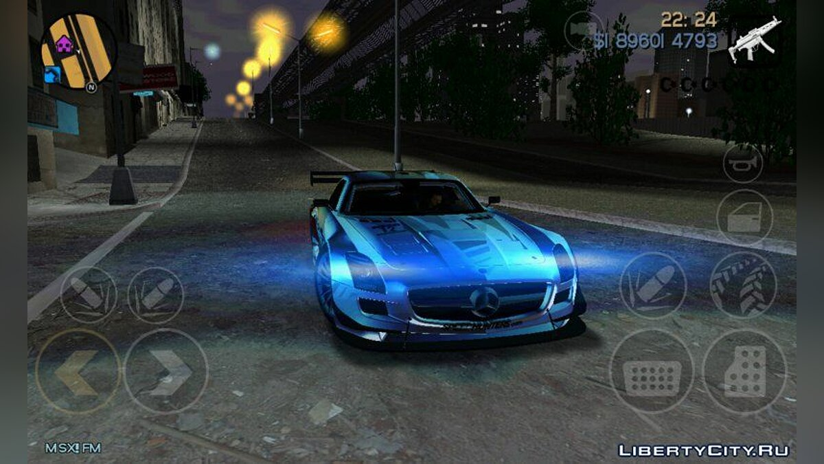 Mercedes Benz SLS Speed ​​Hunters for GTA 3 (iOS, Android) - Картинка #1