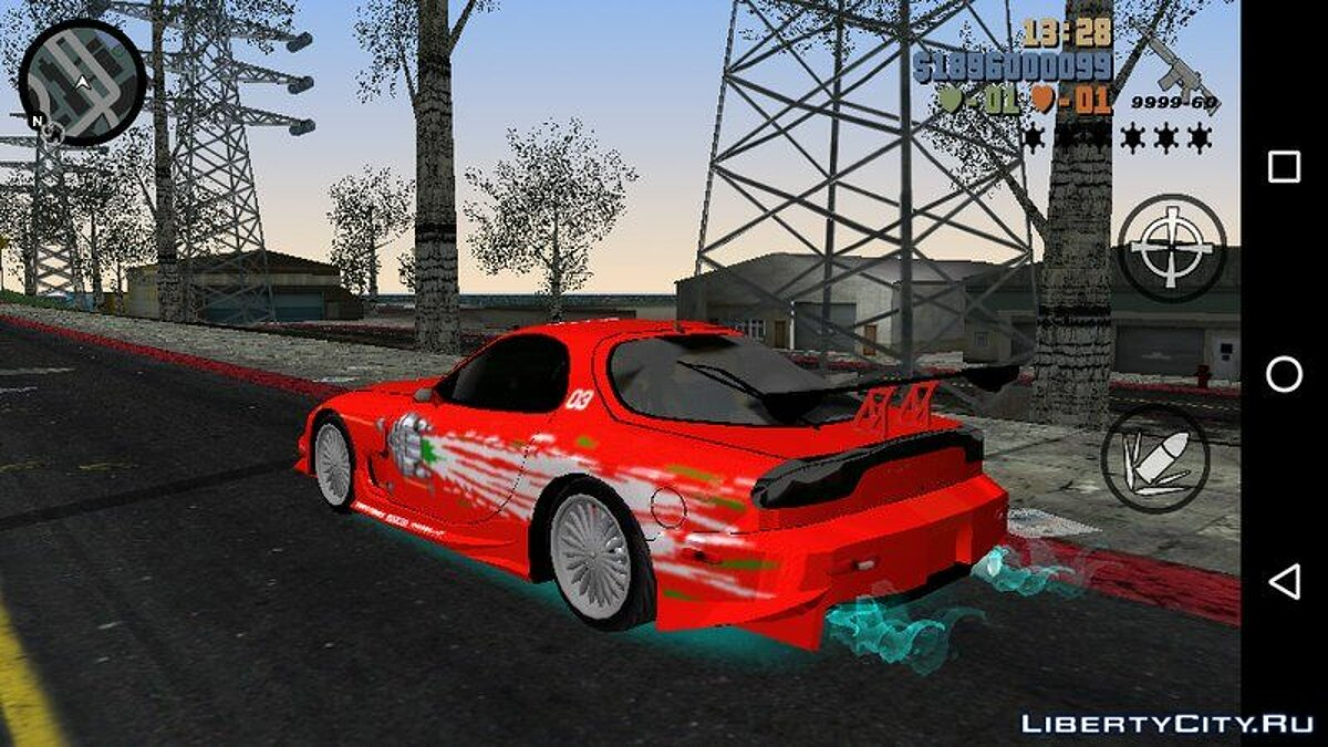 Car MAZDA RX7 FNF for GTA 3 (iOS, Android)