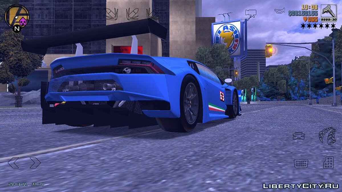 Lamborghini Huracan GT3 for GTA 3 (iOS, Android) - screenshot #2