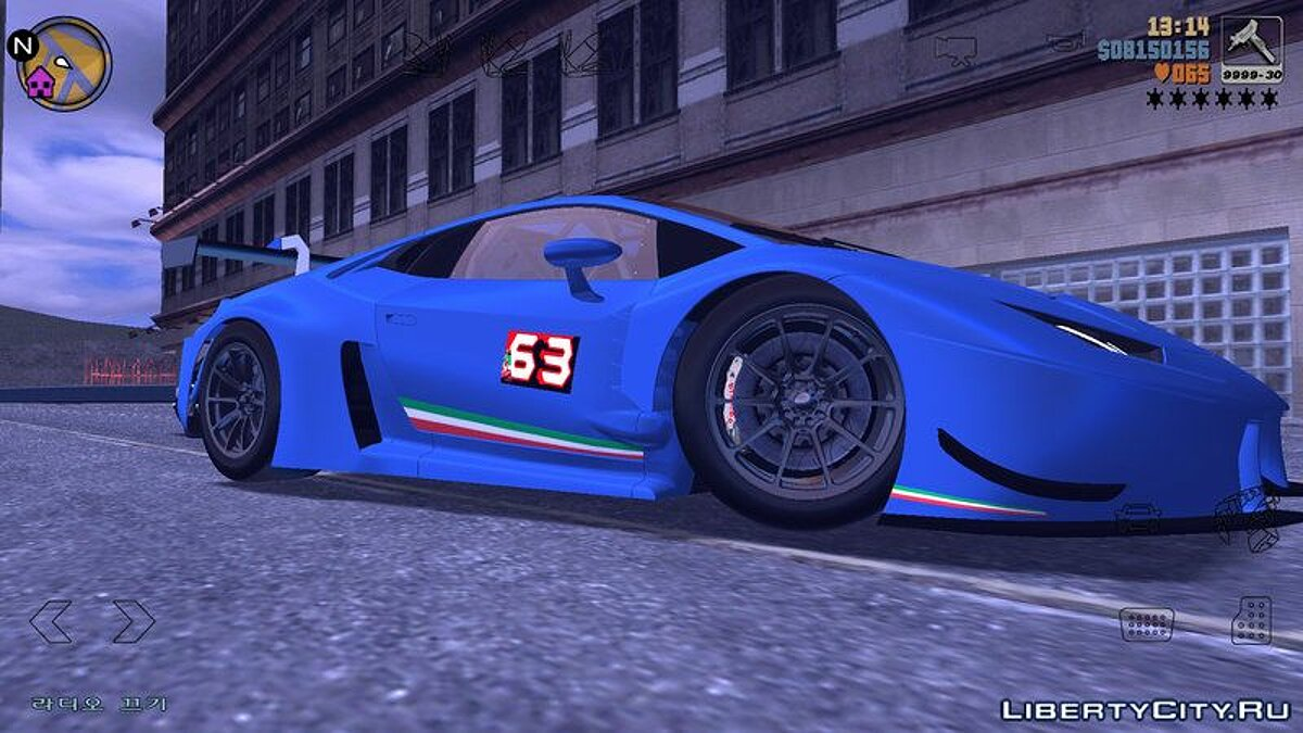 Lamborghini Huracan GT3 for GTA 3 (iOS, Android) - screenshot #3