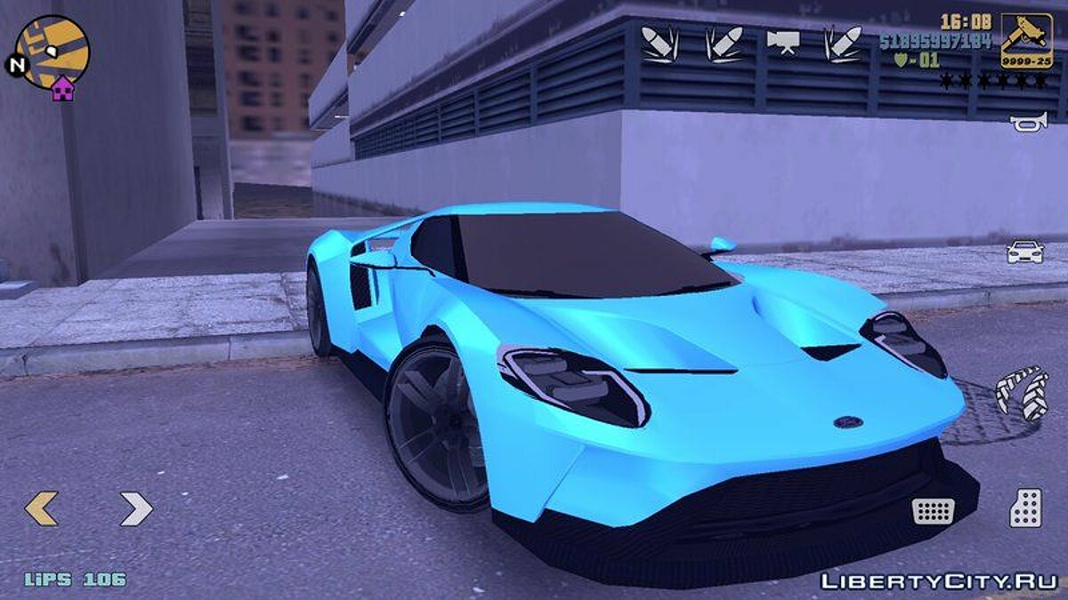Ford GT 2015 for GTA 3 (iOS, Android) - Картинка #1