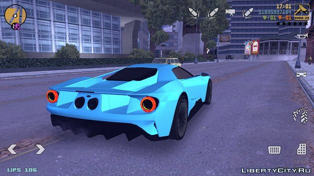 Ford GT 2015 for GTA 3 (iOS, Android) - Картинка #3