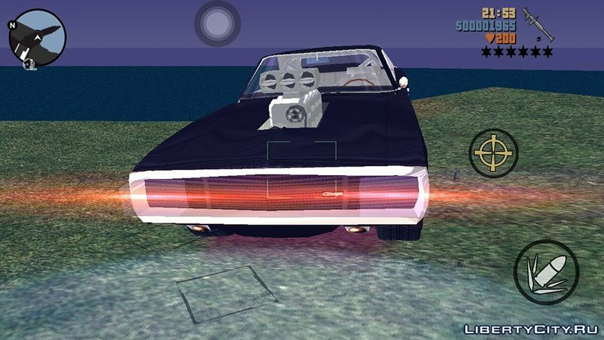 Car Fast And Furious 70 Charger for GTA 3 (iOS, Android)