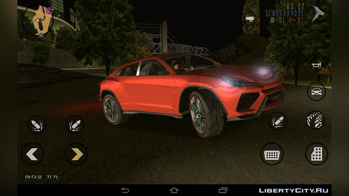 Car Lamborghini Urus из Asphalt 8 for GTA 3 (iOS, Android)