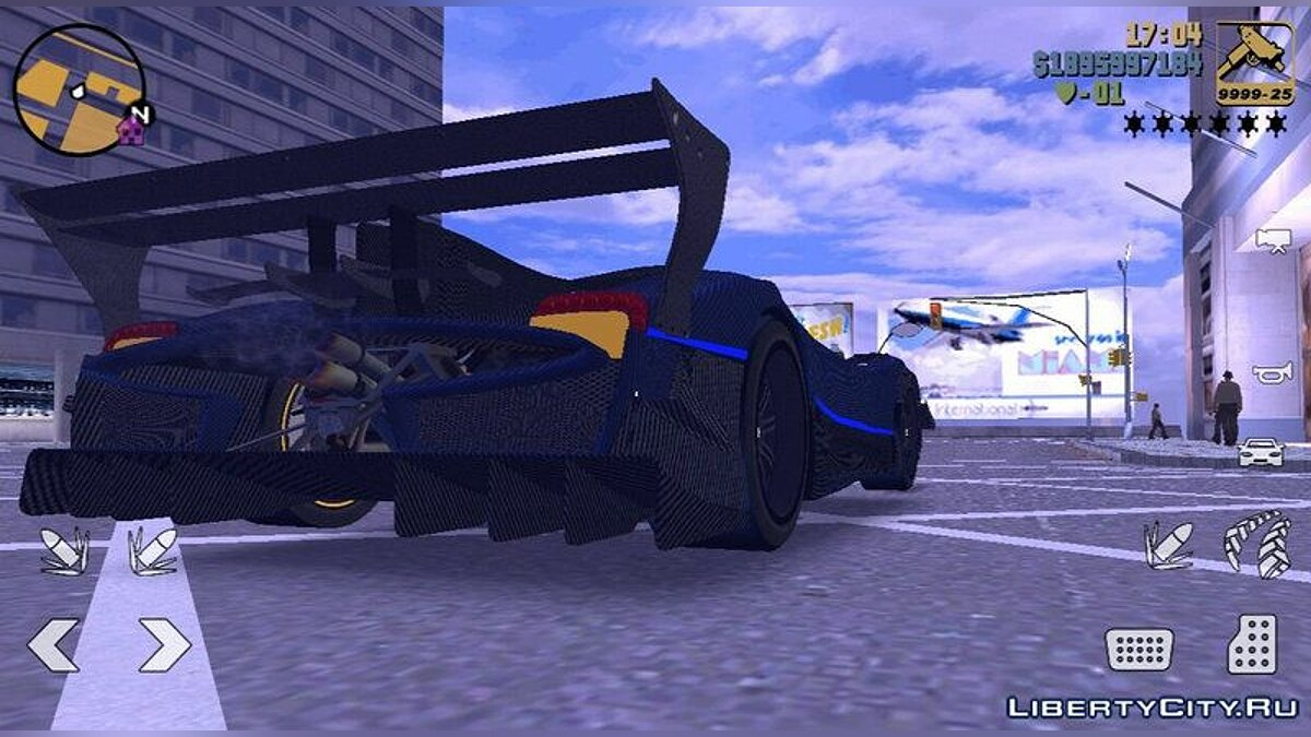 Car Pagani Zonda Revolucion Bluecarbon for GTA 3 (iOS, Android)