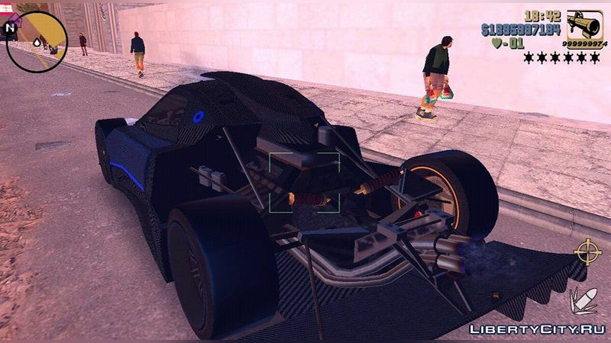 Pagani Zonda Revolucion Bluecarbon for GTA 3 (iOS, Android) - screenshot #6