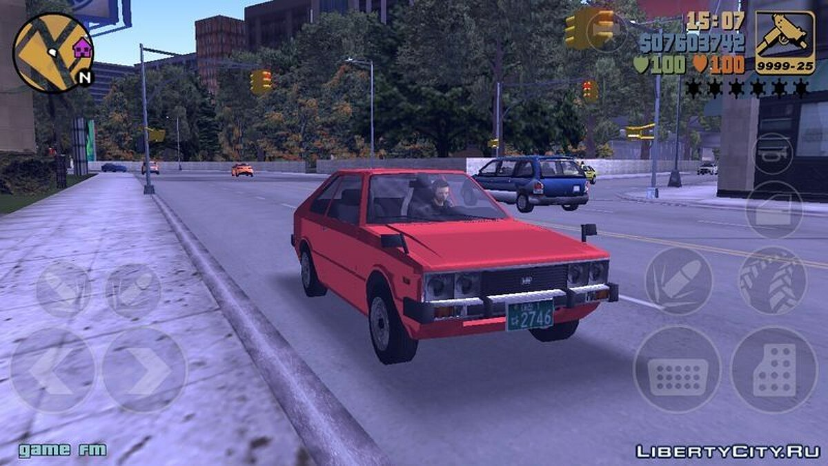 Car 1974 Hyundai Pony for GTA 3 (iOS, Android)