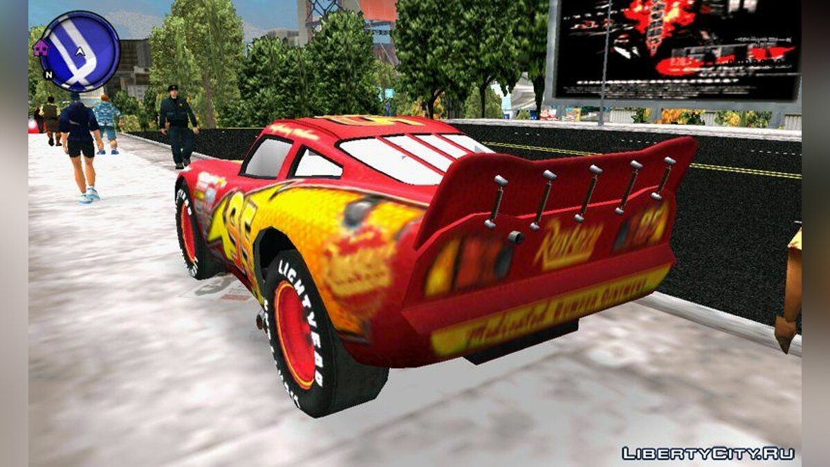 Lightning MCQUEEN for GTA 3 (iOS, Android) - screenshot #2