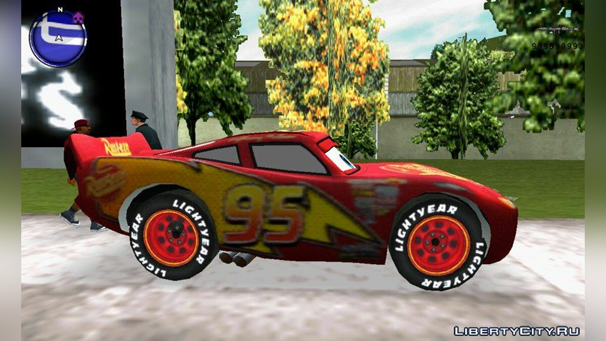 Lightning MCQUEEN for GTA 3 (iOS, Android) - screenshot #3