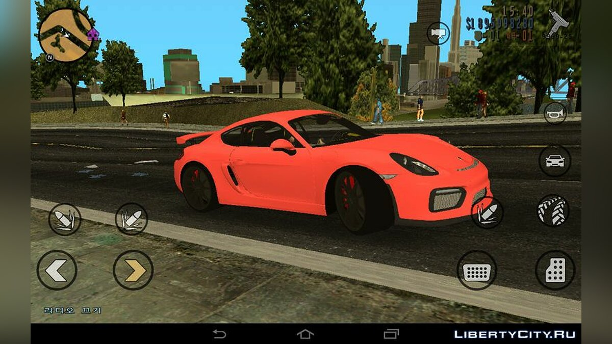 Car Porsche Cayman GT4 for GTA 3 (iOS, Android)
