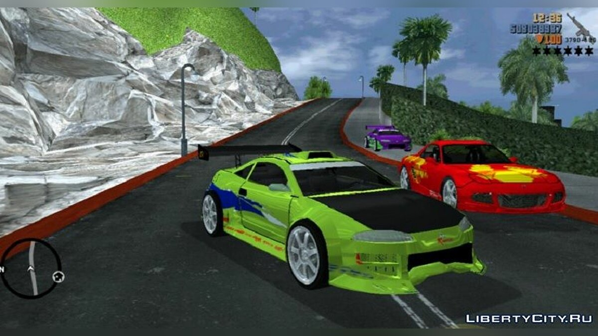 Car Mitsubishi eclipse for GTA 3 (iOS, Android)