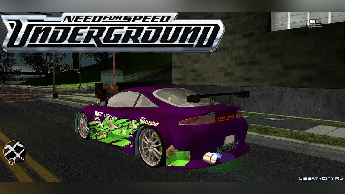 Car Mitsubishi Eclipse Motors from Need for Speed Underground for GTA 3 (iOS, Android)