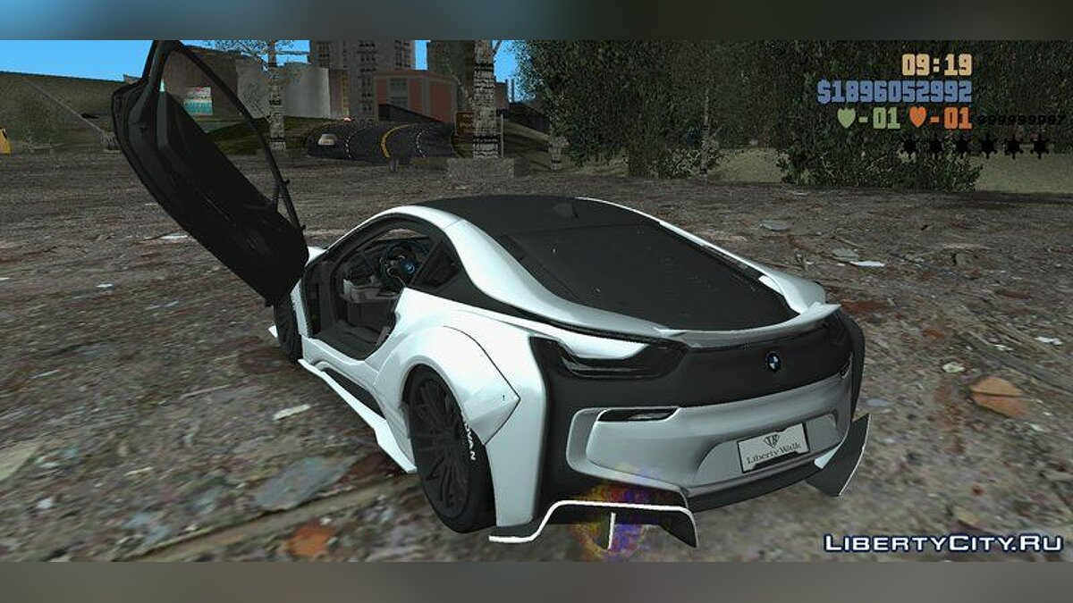 BMW i8 LibertyWalk 2017 for GTA 3 (iOS, Android) - Картинка #4