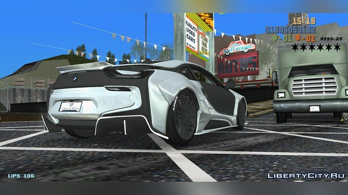 BMW i8 LibertyWalk 2017 for GTA 3 (iOS, Android) - Картинка #3