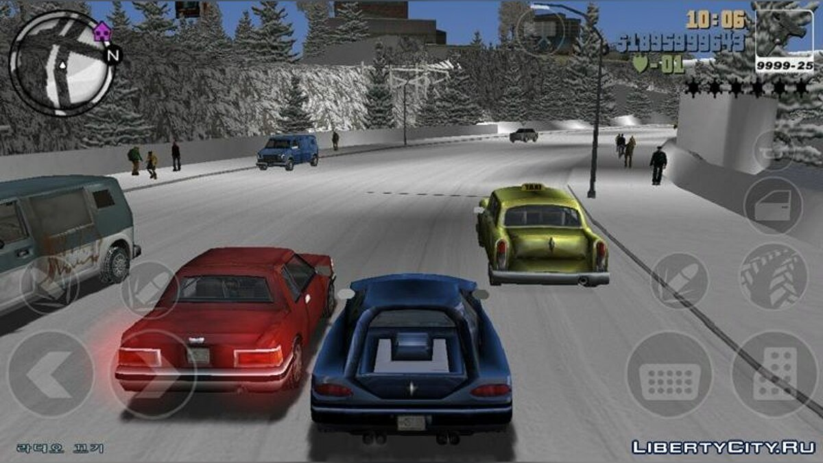 Global mod Real winter in GTA 3 for GTA 3 (iOS, Android)