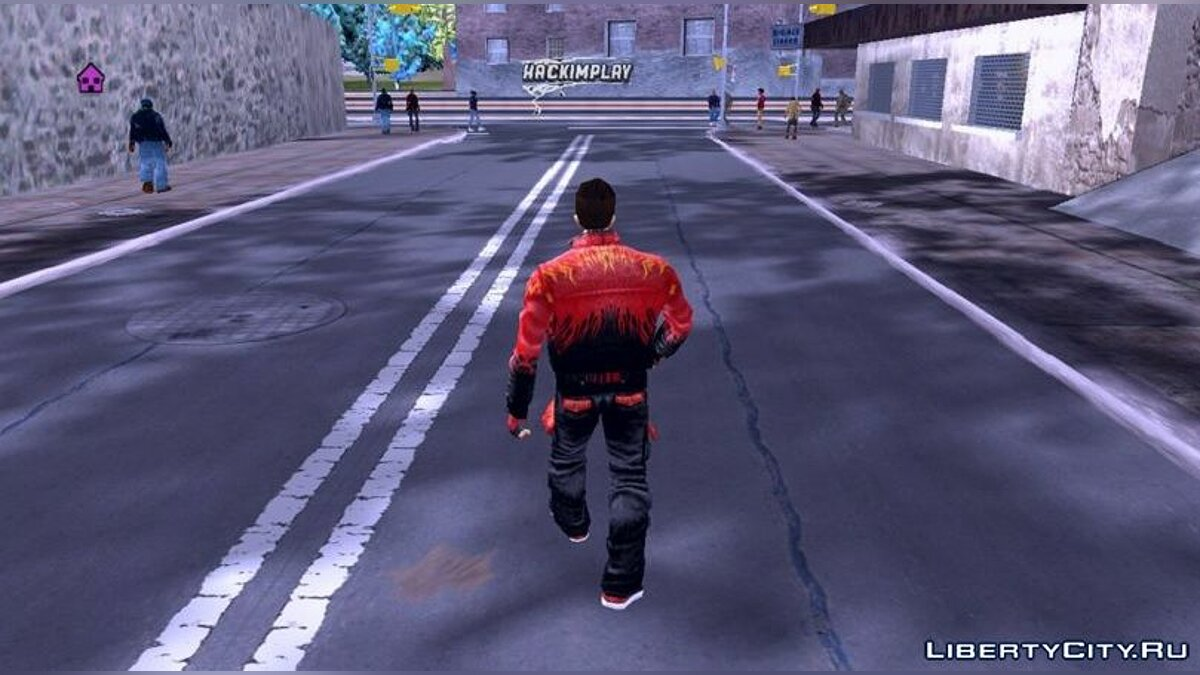 Texture mod Fire Suit for Claude for GTA 3 (iOS, Android)