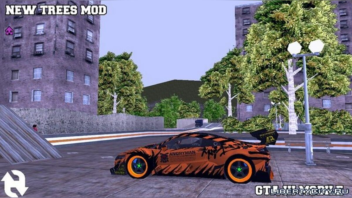 Texture mod New textures for trees for GTA 3 (iOS, Android)