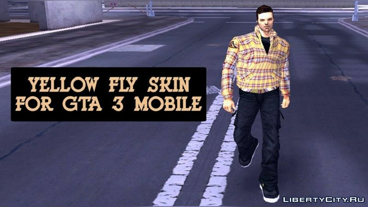 Texture mod Yellow jacket for Claude for GTA 3 (iOS, Android)