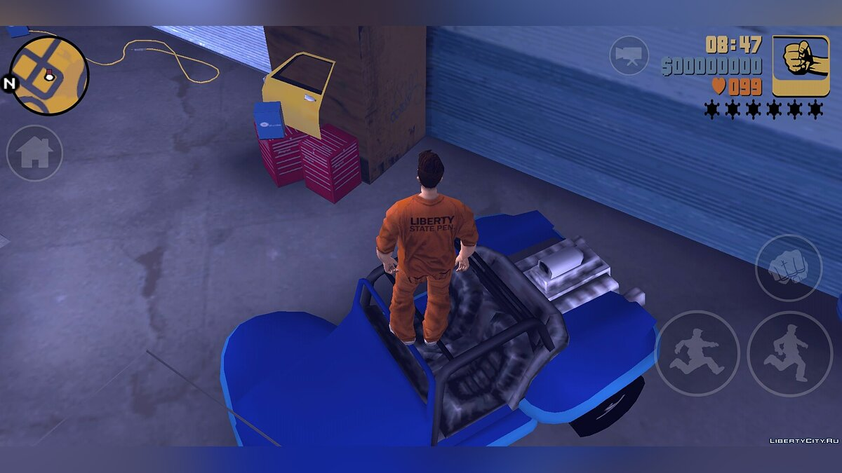 Mod Enter Joey's garage (There is a collision) for GTA 3 (iOS, Android)