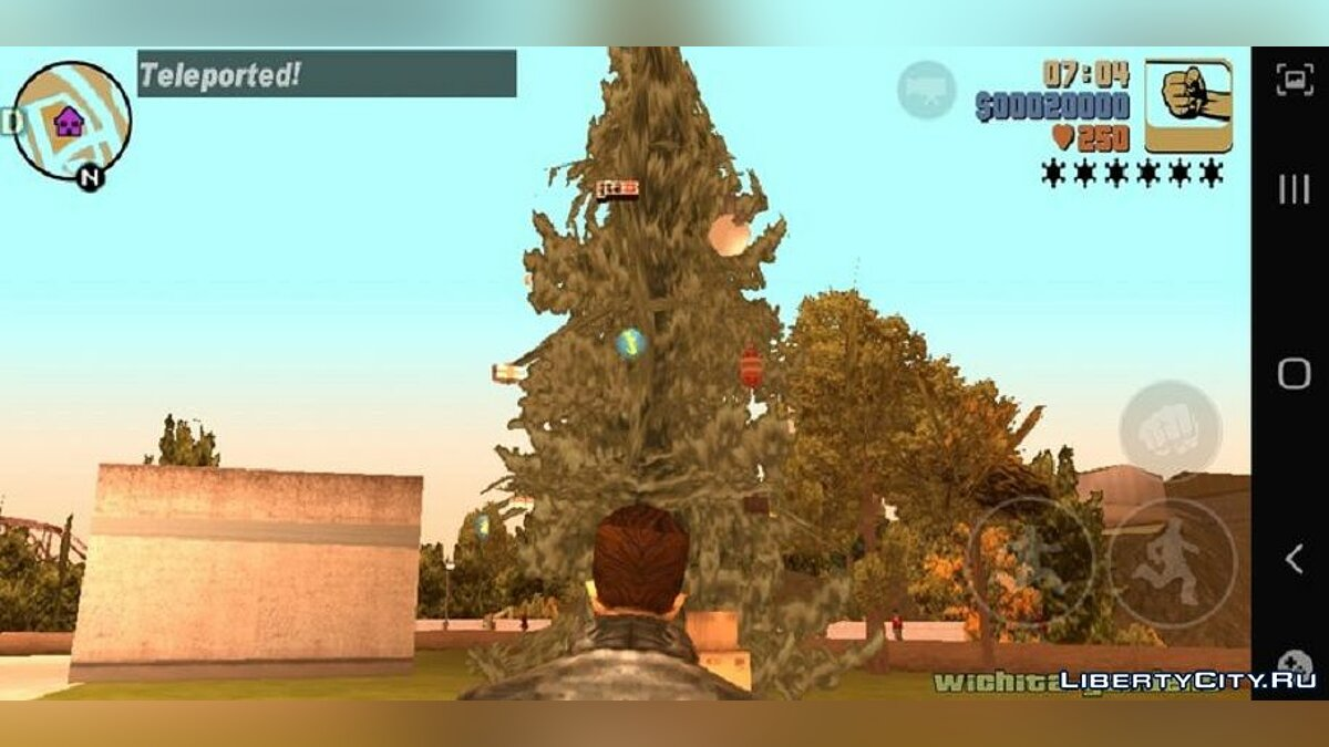 Mod Christmas trees for GTA 3 (iOS, Android)