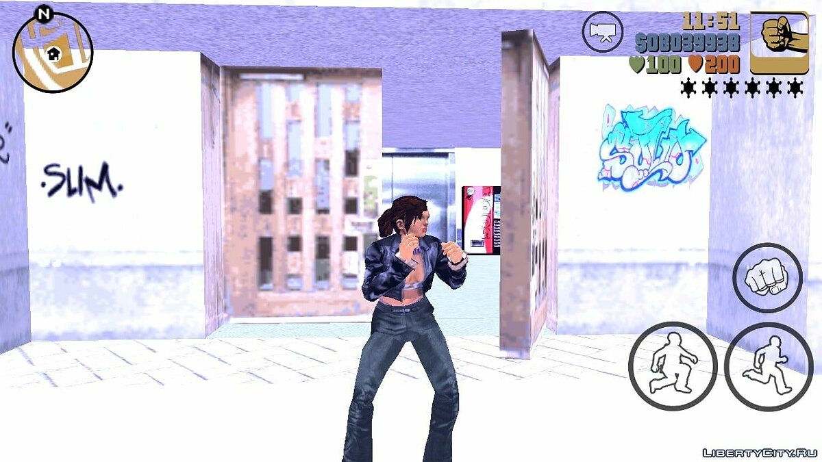 Mod Catalina instead of Claude for GTA 3 (iOS, Android)
