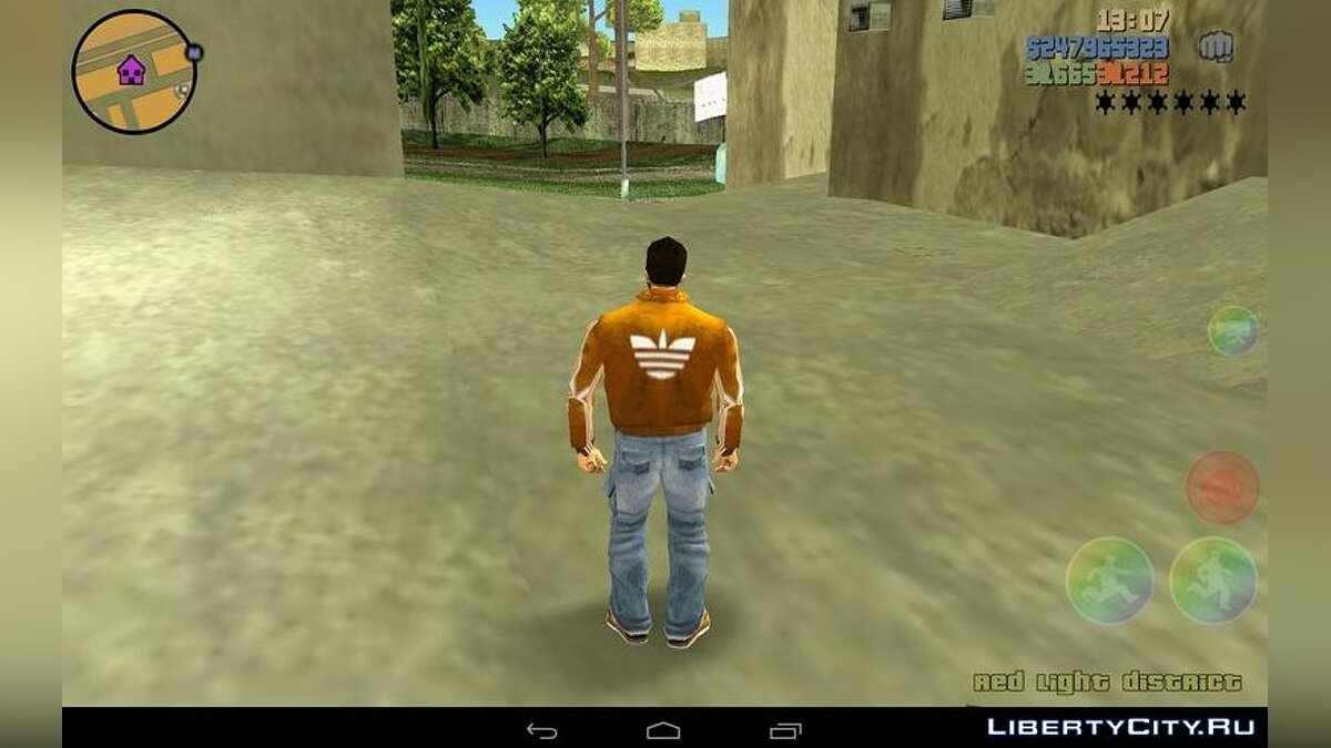 Mod Adidas Claude Jacket for GTA 3 (iOS, Android)