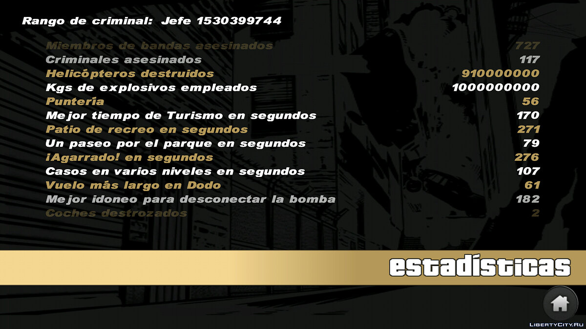 Save 100% Savegame Criminal Rank Boss Best 2021 for GTA 3 (iOS, Android)