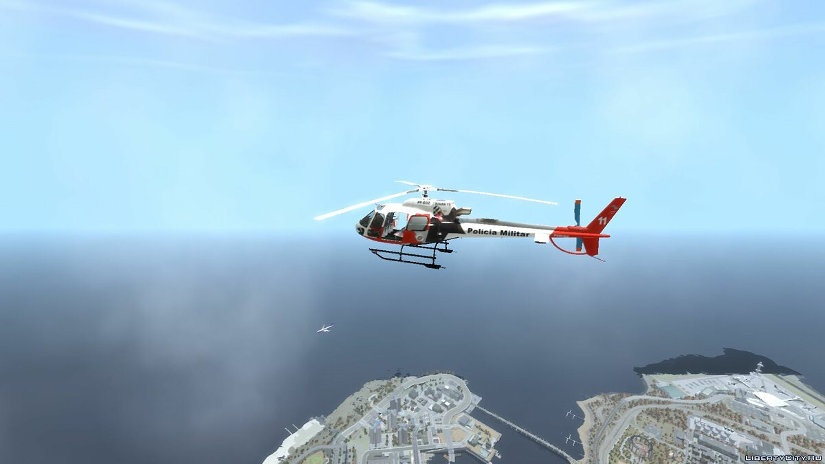 Planes and helicopters Eurocopter AS350 Ecureuil Aguia 11 PMESP for GTA 4