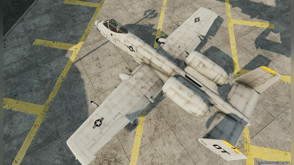 Planes and helicopters Fairchild Republic A-10A Thunderbolt II for GTA 4