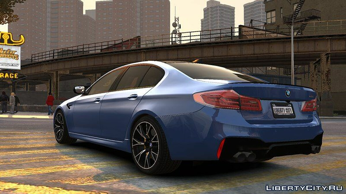 BMW car 2018 BMW M5 Competition v1.0 for GTA 4