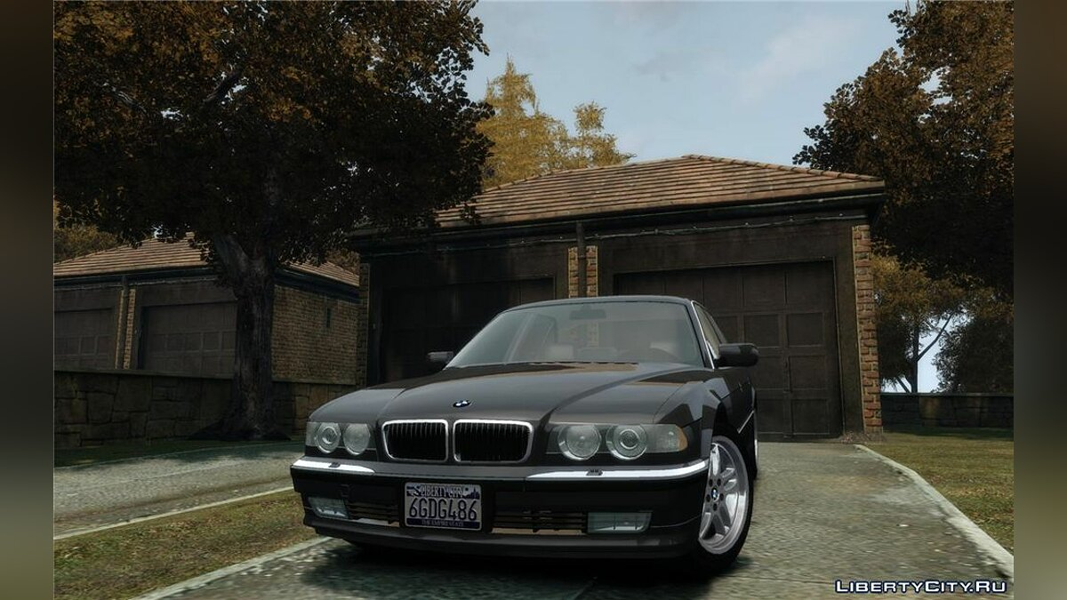 BMW car BMW 740i (E38) for GTA 4
