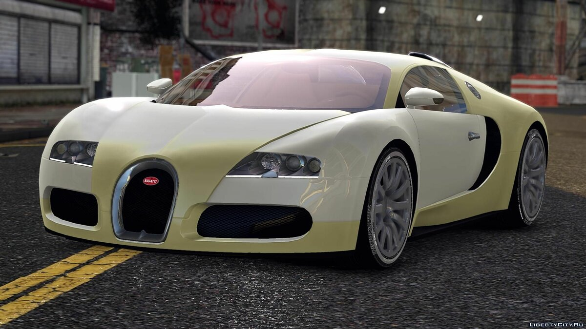 Bugatti car 2009 Bugatti Veyron Gold Centenaire for GTA 4