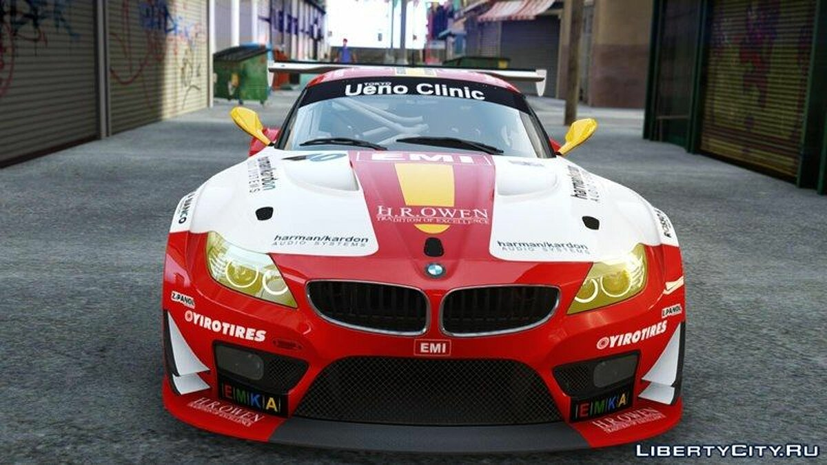 Car textures 2015 BMW Z4M Gt3 Rsr E.M.I Racing for GTA 4