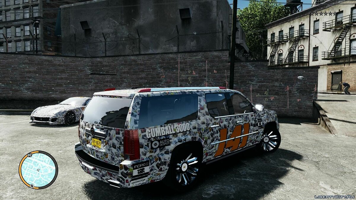 Car textures 2012 Cadillac Escalade ESV gumball 3000 paintjob for GTA 4