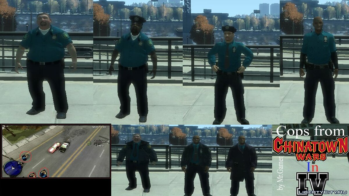 Character changing mod Police clothes from GTA Chinatown Wars for GTA 4