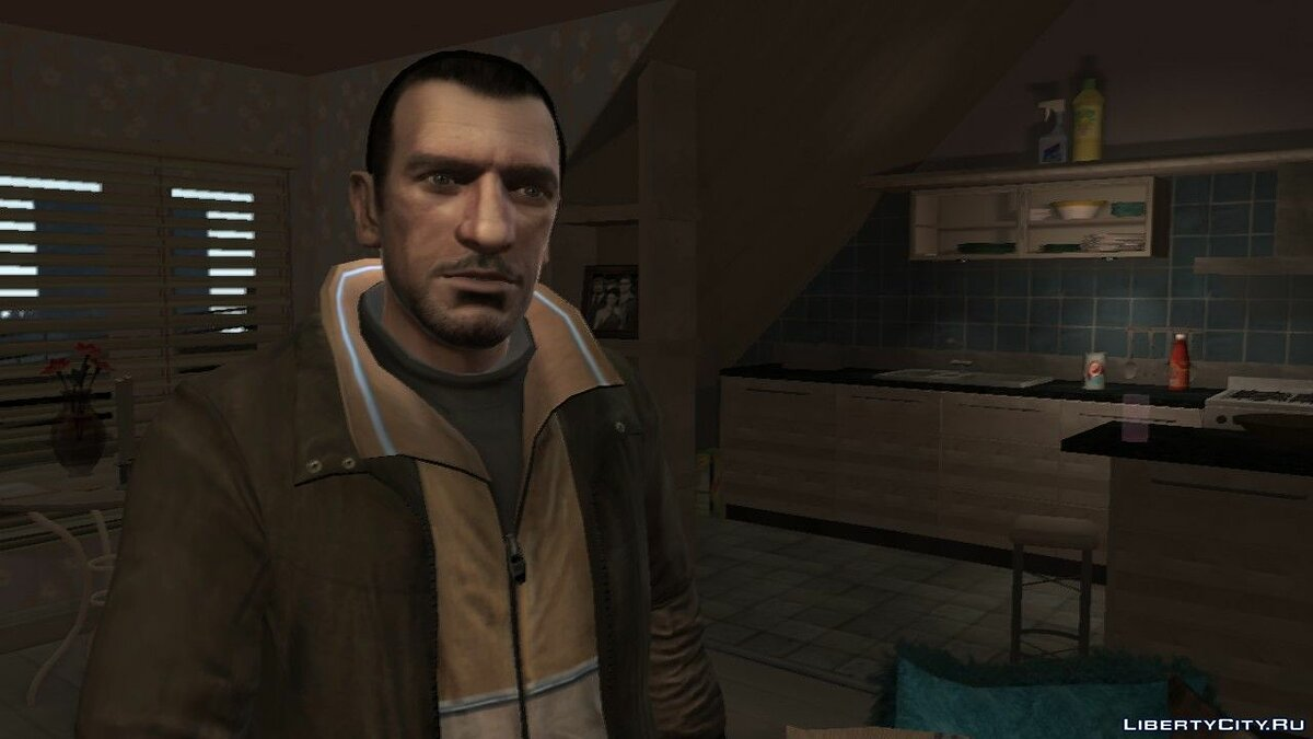 Character changing mod Improved Niko v2 by FoxySkill for GTA 4