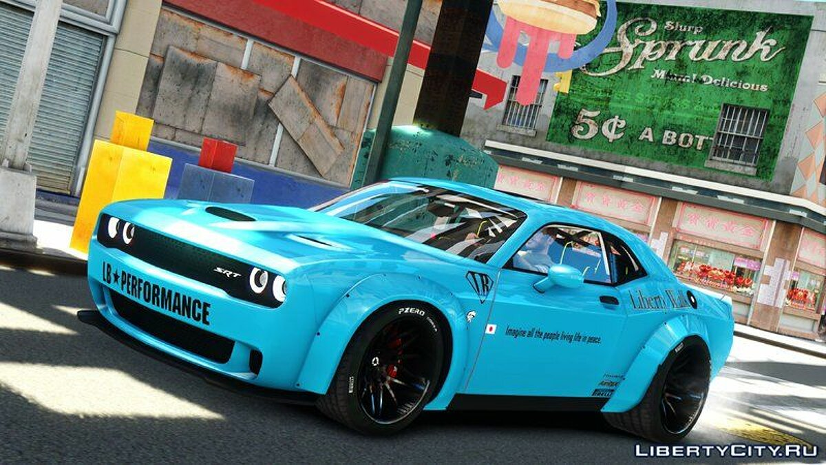 Dodge car Dodge Challenger Liberty Walk '15 for GTA 4